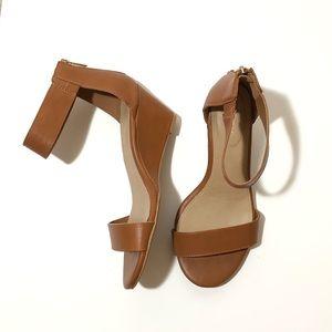 TORRID Double Strap Mini Wedge Sandals Size 9